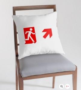 Running Man Exit Sign Throw Pillow Cushion 151