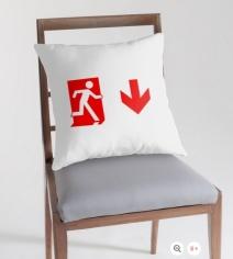 Running Man Exit Sign Throw Pillow Cushion 153