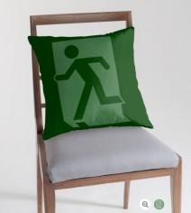Running Man Exit Sign Throw Pillow Cushion 155