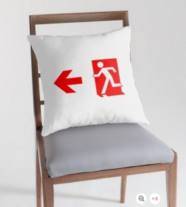 Running Man Exit Sign Throw Pillow Cushion 157