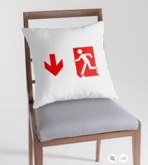 Running Man Exit Sign Throw Pillow Cushion 160