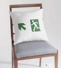 Running Man Exit Sign Throw Pillow Cushion 19