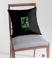 Running Man Exit Sign Throw Pillow Cushion 29