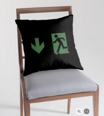 Running Man Exit Sign Throw Pillow Cushion 35