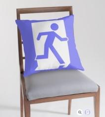 Running Man Exit Sign Throw Pillow Cushion 45