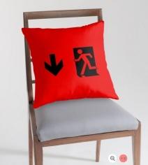 Running Man Exit Sign Throw Pillow Cushion 61