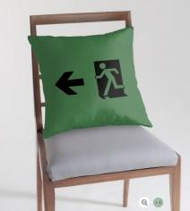 Running Man Exit Sign Throw Pillow Cushion 75