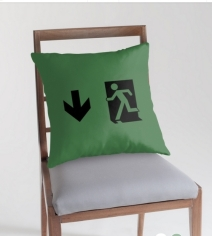 Running Man Exit Sign Throw Pillow Cushion 76