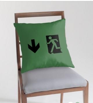 Running Man Exit Sign Throw Pillow Cushion 76