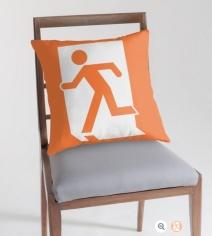 Running Man Exit Sign Throw Pillow Cushion 84