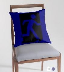 Running Man Exit Sign Throw Pillow Cushion 99