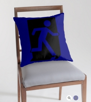 Running Man Exit Sign Throw Pillow Cushion 99