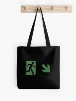 Running Man Exit Sign Tote Shoulder Carry Bag 100
