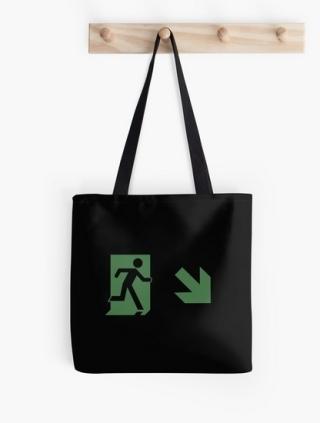 Running Man Exit Sign Tote Shoulder Carry Bag 100