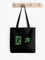 Running Man Exit Sign Tote Shoulder Carry Bag 101