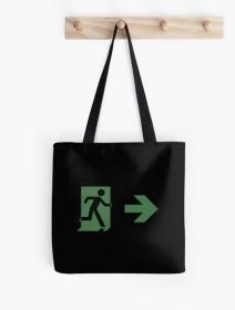 Running Man Exit Sign Tote Shoulder Carry Bag 102