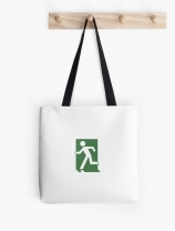 Running Man Exit Sign Tote Shoulder Carry Bag 104