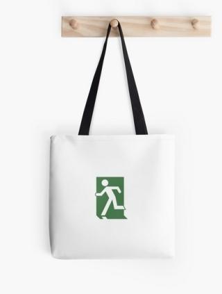 Running Man Exit Sign Tote Shoulder Carry Bag 104