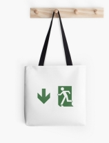 Running Man Exit Sign Tote Shoulder Carry Bag 105