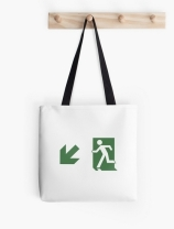 Running Man Exit Sign Tote Shoulder Carry Bag 106