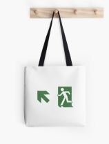 Running Man Exit Sign Tote Shoulder Carry Bag 107