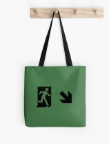 Running Man Exit Sign Tote Shoulder Carry Bag 109