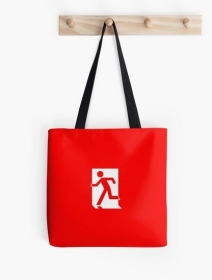 Running Man Exit Sign Tote Shoulder Carry Bag 11