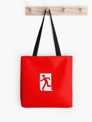 Running Man Exit Sign Tote Shoulder Carry Bag 11