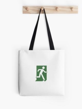 Running Man Exit Sign Tote Shoulder Carry Bag 111