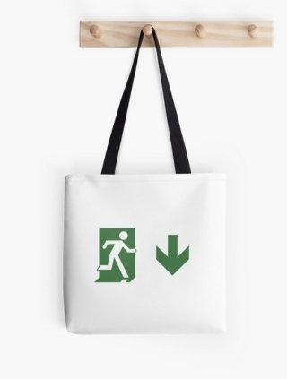 Running Man Exit Sign Tote Shoulder Carry Bag 112