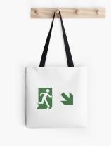 Running Man Exit Sign Tote Shoulder Carry Bag 113