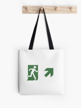 Running Man Exit Sign Tote Shoulder Carry Bag 114