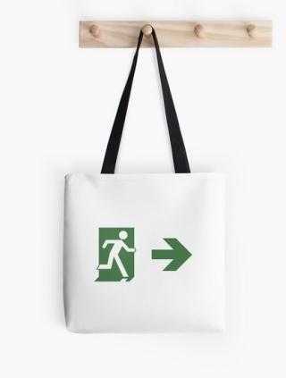 Running Man Exit Sign Tote Shoulder Carry Bag 115