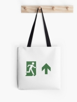 Running Man Exit Sign Tote Shoulder Carry Bag 116