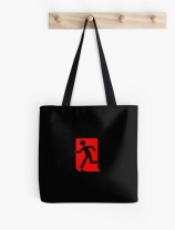 Running Man Exit Sign Tote Shoulder Carry Bag 117