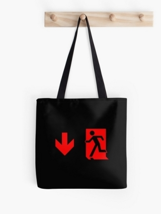Running Man Exit Sign Tote Shoulder Carry Bag 118