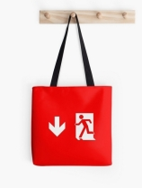 Running Man Exit Sign Tote Shoulder Carry Bag 12