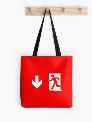 Running Man Exit Sign Tote Shoulder Carry Bag 12