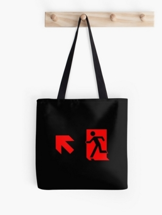 Running Man Exit Sign Tote Shoulder Carry Bag 121