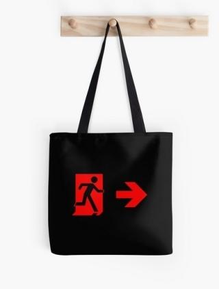Running Man Exit Sign Tote Shoulder Carry Bag 127