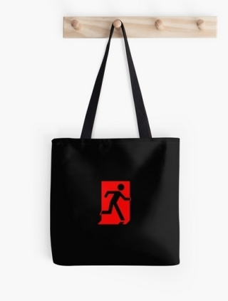 Running Man Exit Sign Tote Shoulder Carry Bag 129