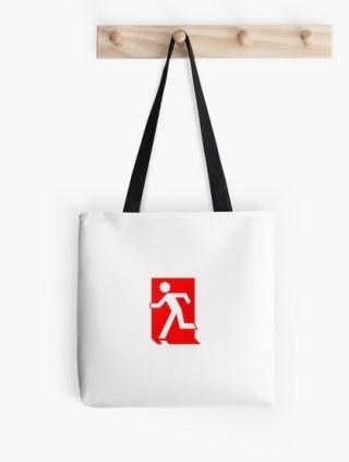 Running Man Exit Sign Tote Shoulder Carry Bag 130