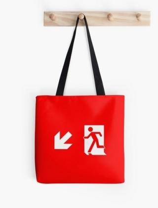 Running Man Exit Sign Tote Shoulder Carry Bag 13