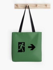 Running Man Exit Sign Tote Shoulder Carry Bag 131