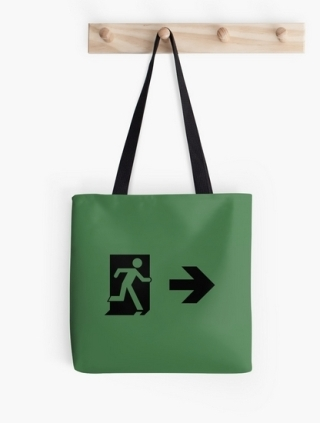 Running Man Exit Sign Tote Shoulder Carry Bag 131