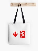 Running Man Exit Sign Tote Shoulder Carry Bag 132