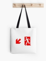 Running Man Exit Sign Tote Shoulder Carry Bag 133