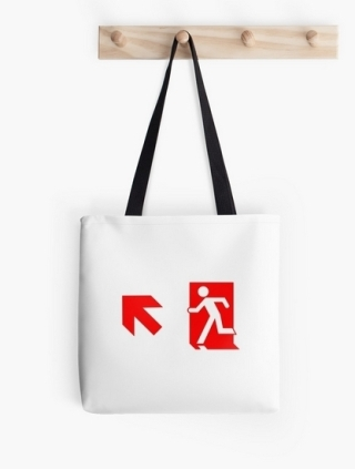 Running Man Exit Sign Tote Shoulder Carry Bag 134