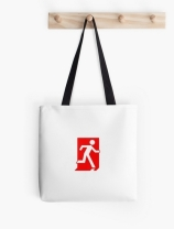 Running Man Exit Sign Tote Shoulder Carry Bag 137