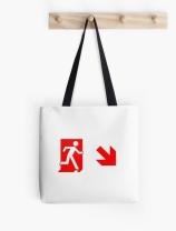 Running Man Exit Sign Tote Shoulder Carry Bag 139